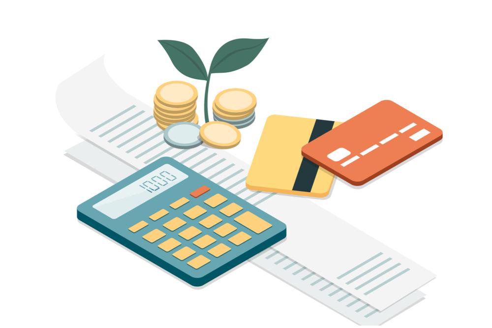 Laskin ja luottokortit